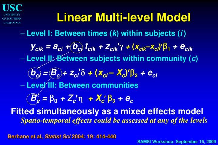 Linear Multi-level Model