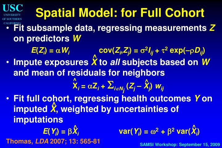 Spatial Model: for Full Cohort