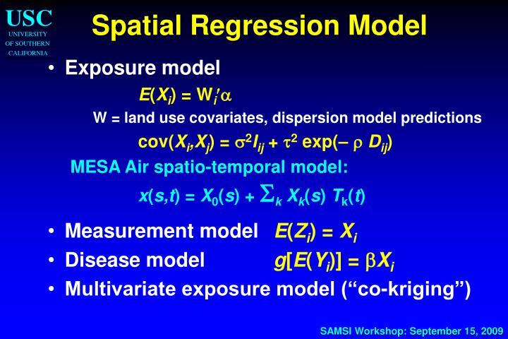 Spatial Regression Model