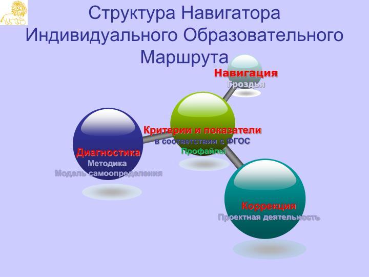 Структура Навигатора Индивидуального Образовательного Маршрута
