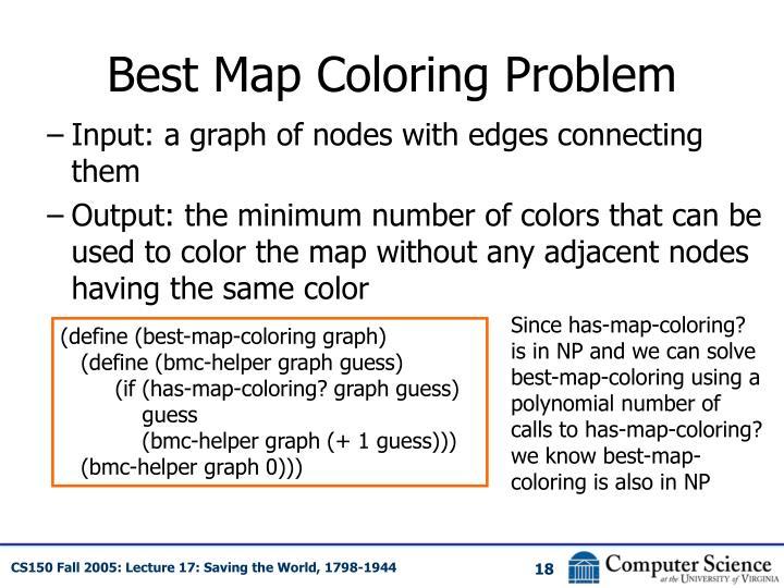 Best Map Coloring Problem