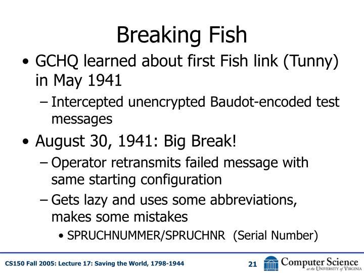 Breaking Fish
