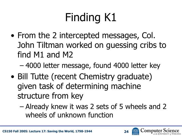 Finding K1