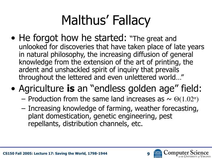 Malthus' Fallacy