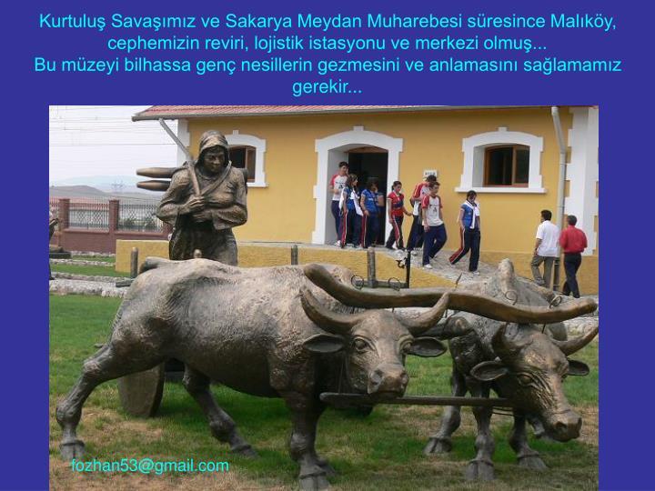 Kurtuluş Savaşımız ve Sakarya Meydan Muharebesi süresince Malıköy,
