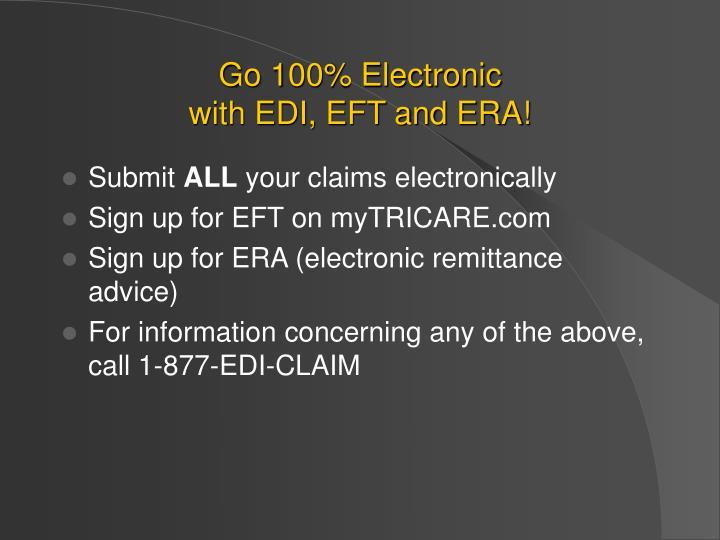 Go 100% Electronic