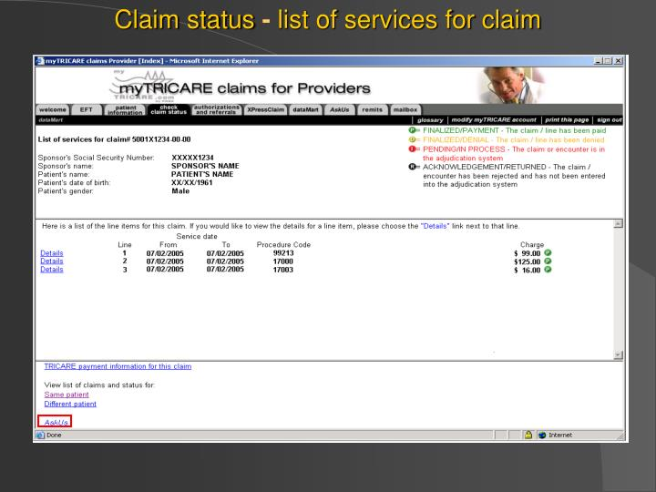Claim status