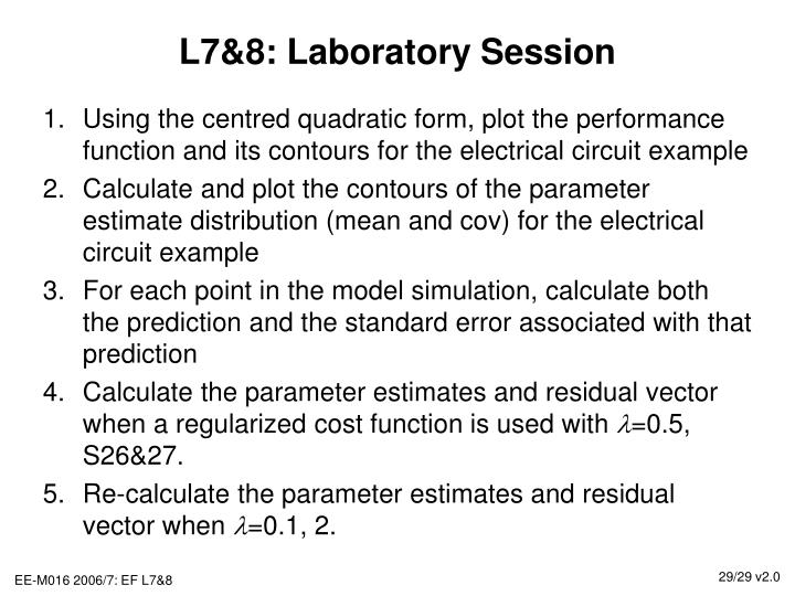 L7&8: Laboratory Session