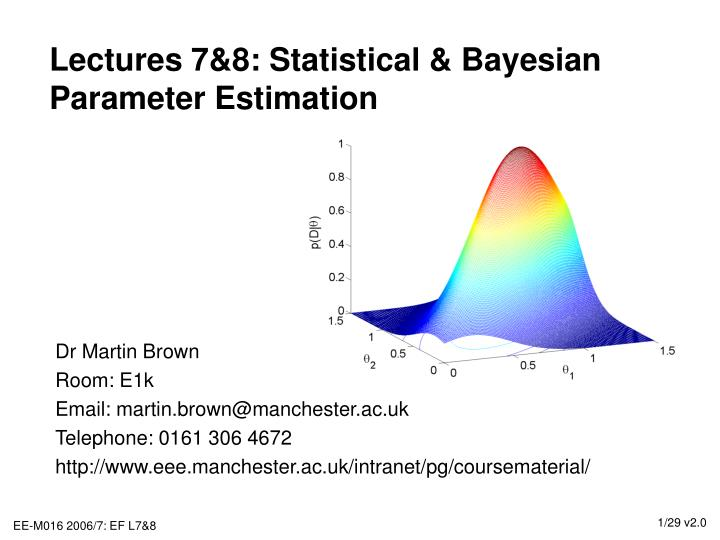 Lectures 7 8 statistical bayesian parameter estimation
