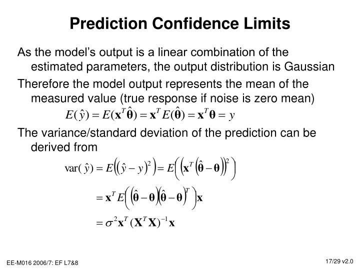 Prediction Confidence Limits