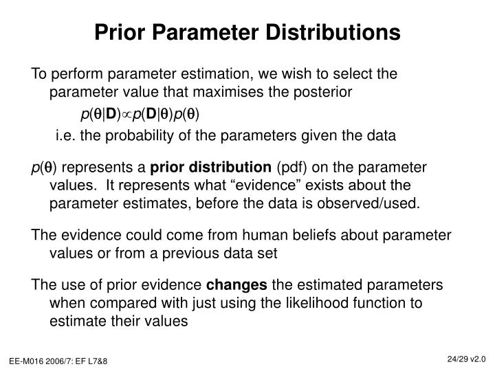 Prior Parameter Distributions