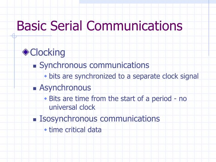Basic Serial Communications