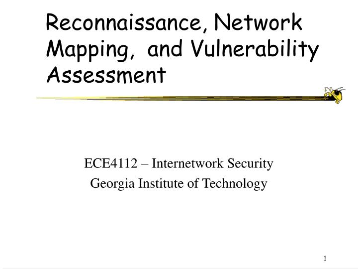 Reconnaissance network mapping and vulnerability assessment