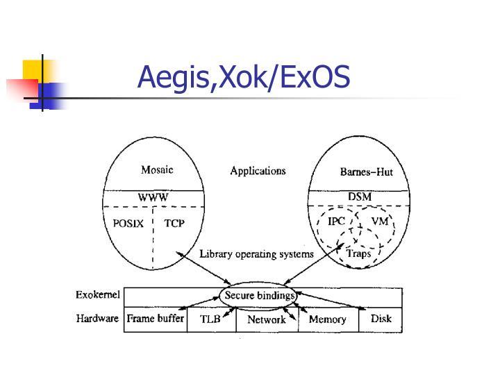 Aegis,Xok/ExOS