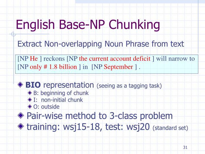 English Base-NP Chunking