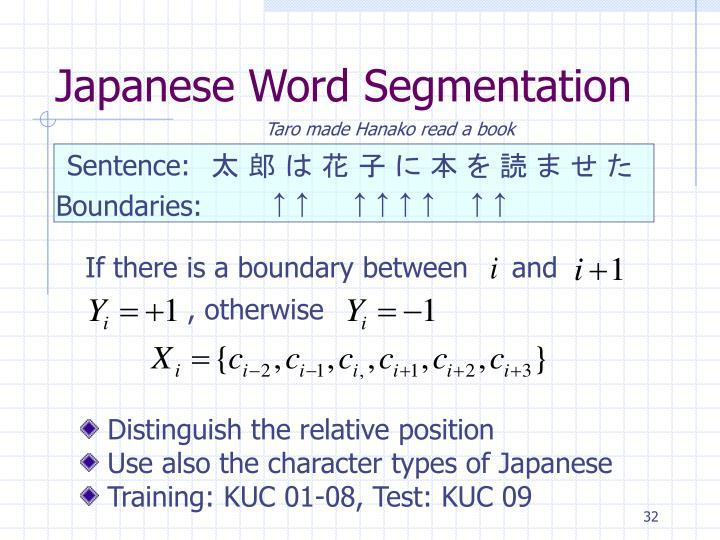 Japanese Word Segmentation