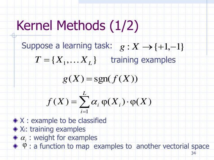Kernel Methods (1/2)
