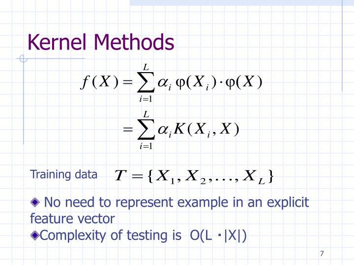 Kernel Methods