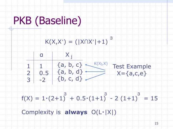 PKB (Baseline)