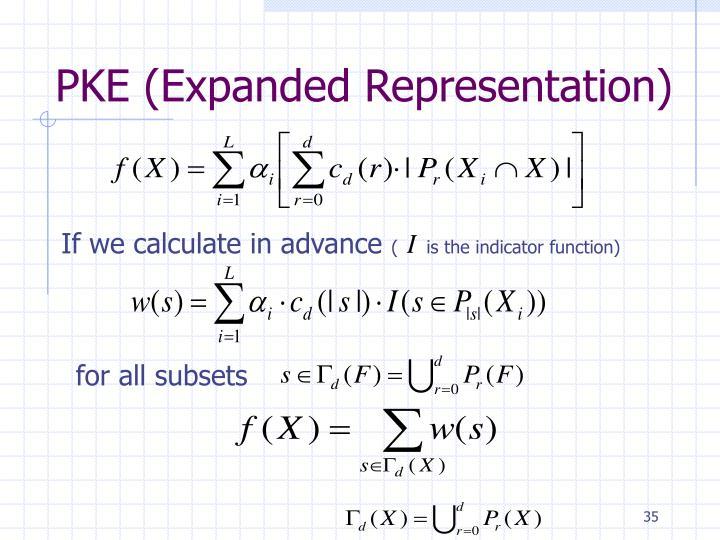 PKE (Expanded Representation)