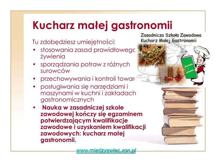 Kucharz małej gastronomii