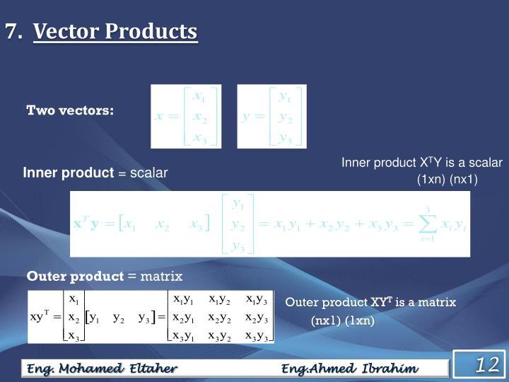 Two vectors: