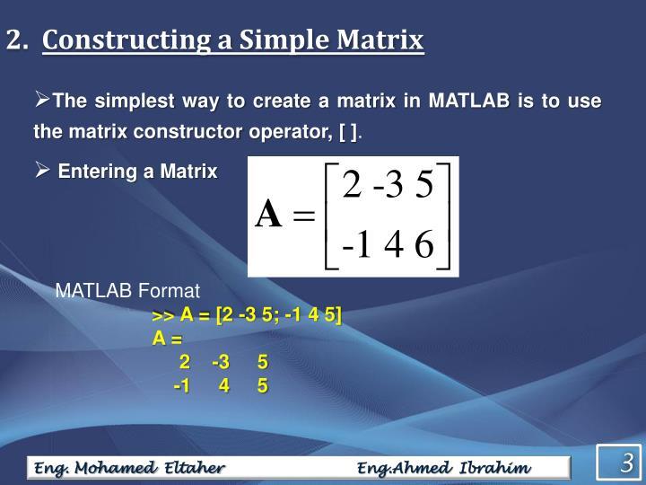 Constructing a Simple Matrix