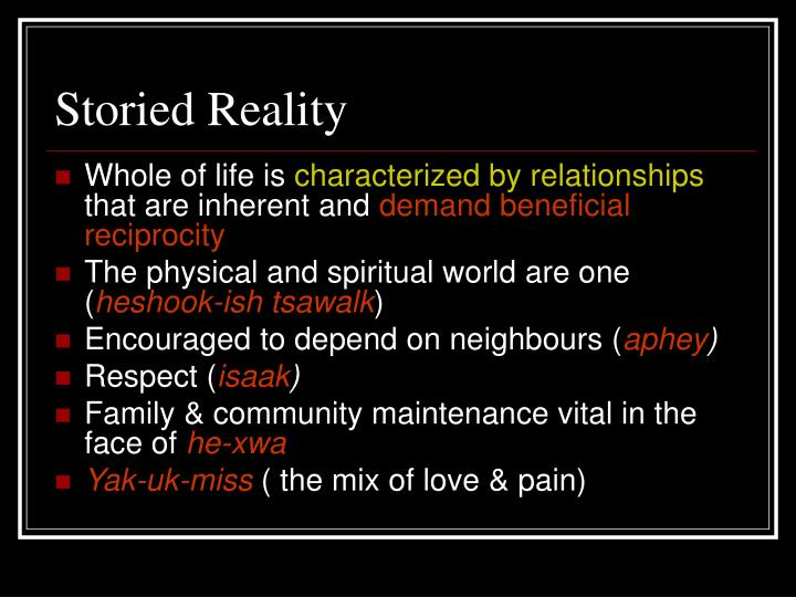 Storied Reality