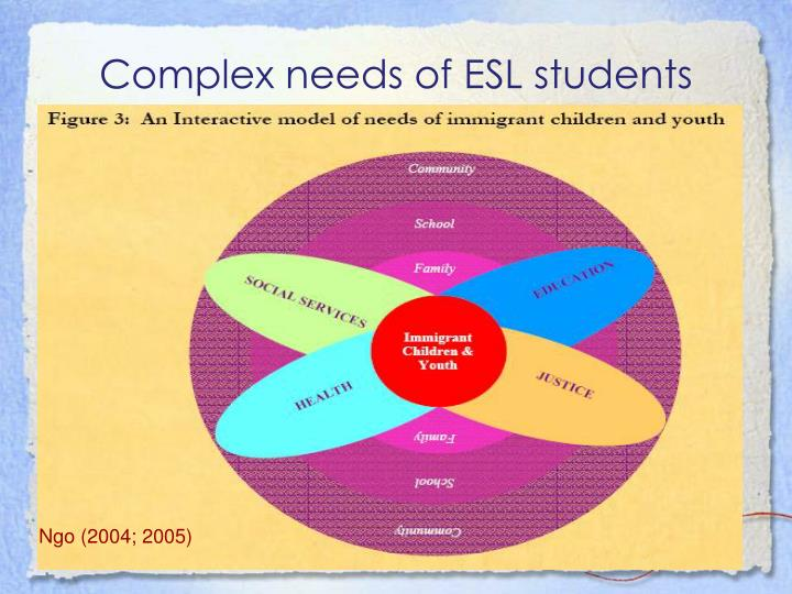 Complex needs of ESL students
