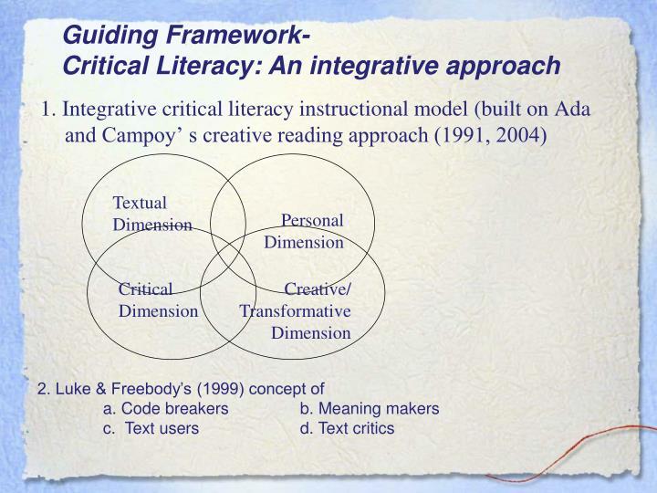 Guiding Framework-