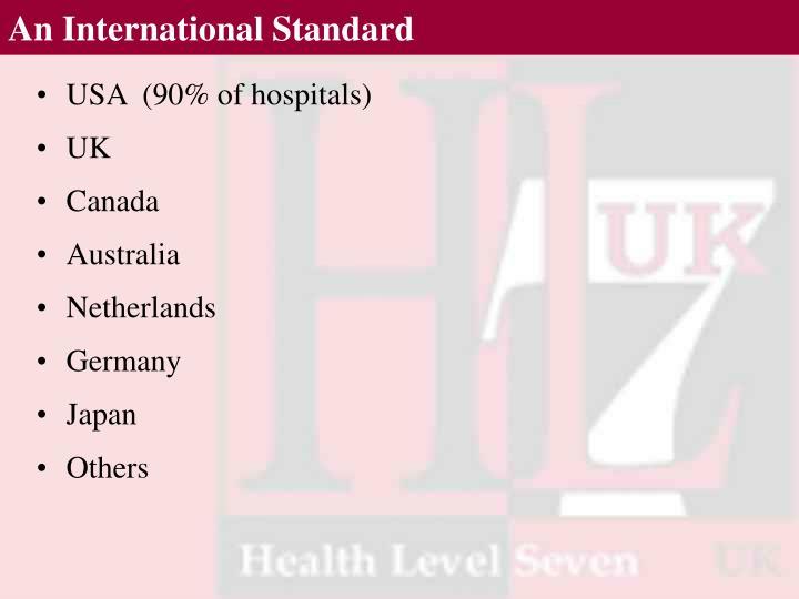 An International Standard
