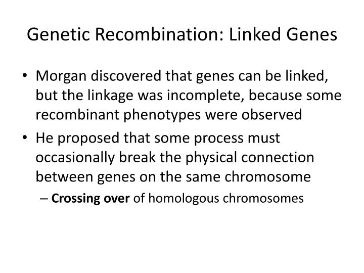 Genetic Recombination: Linked Genes