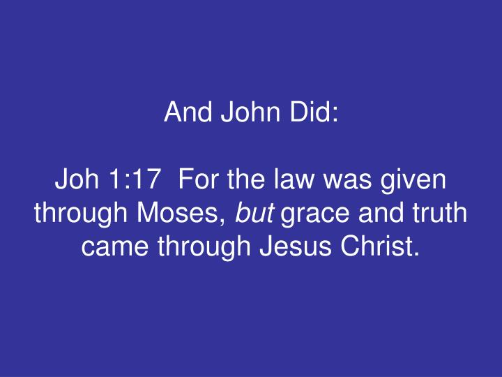 And John Did: