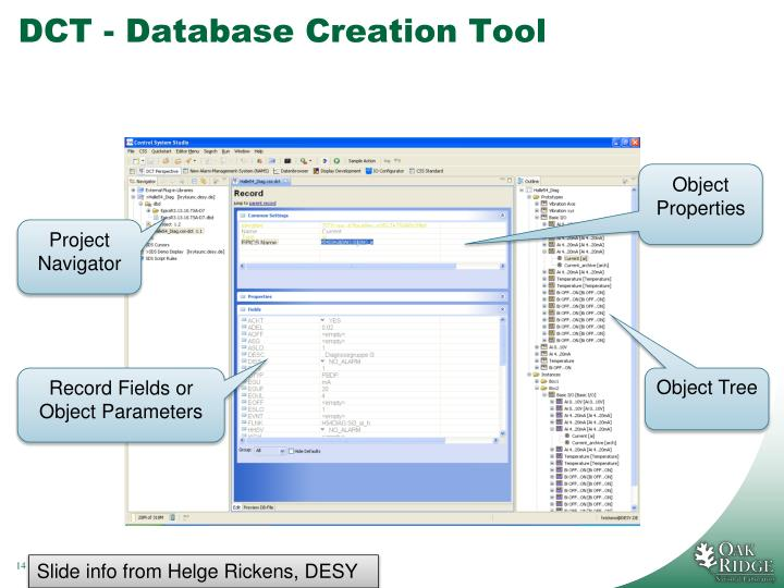 DCT - Database Creation Tool