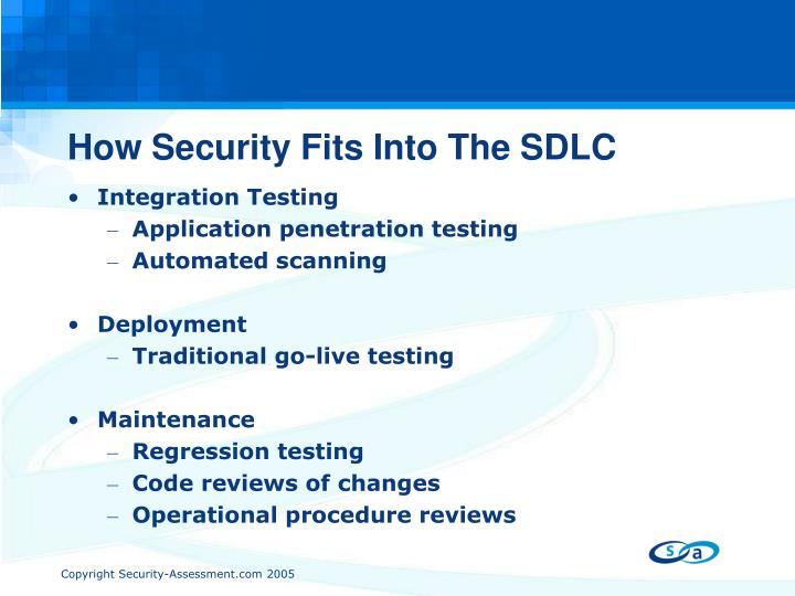 How Security Fits Into The SDLC