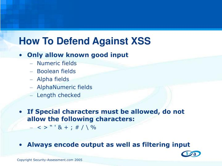 How To Defend Against XSS