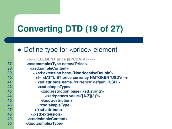 Converting DTD (19 of 27)