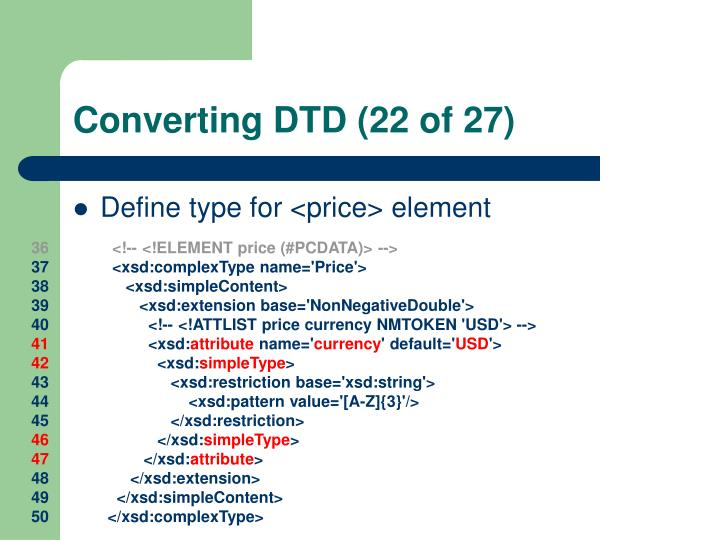 Converting DTD (22 of 27)