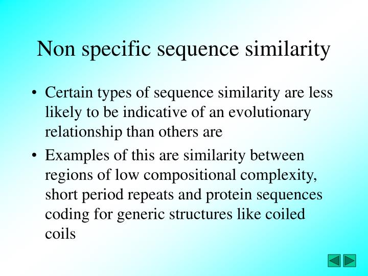 Non specific sequence similarity