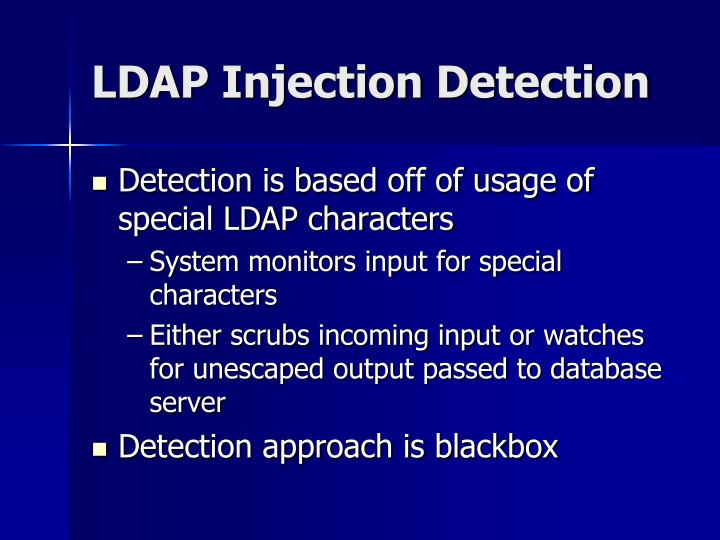 LDAP Injection Detection