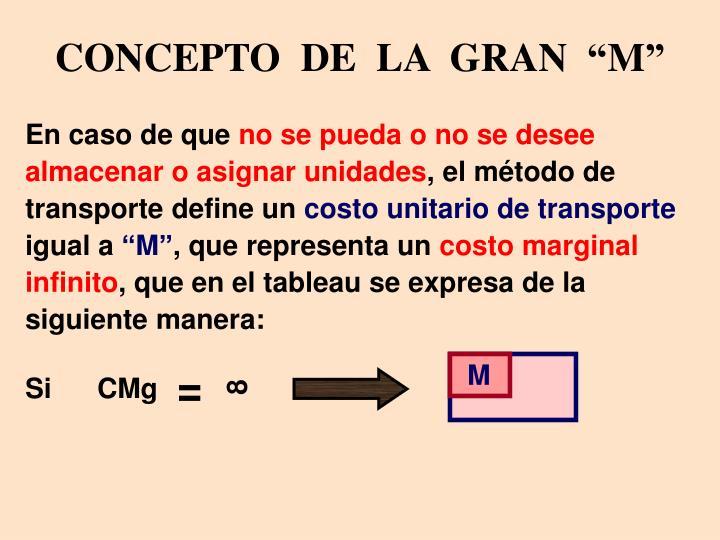 """CONCEPTO  DE  LA  GRAN  """"M"""""""