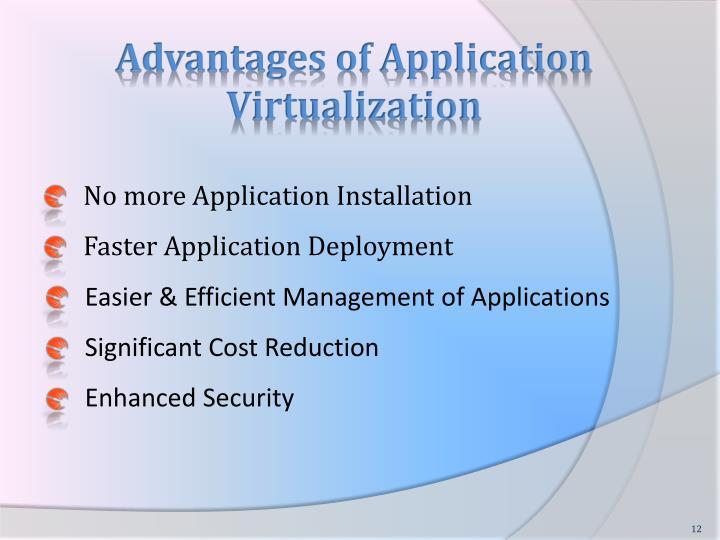Advantages of Application Virtualization