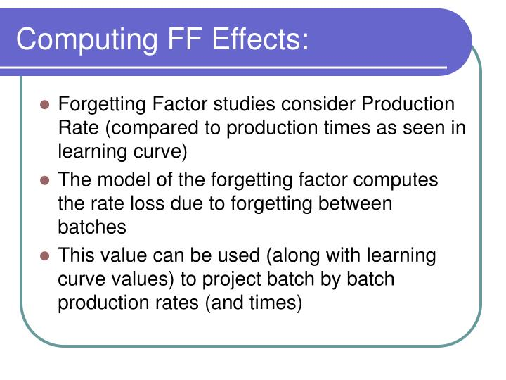 Computing FF Effects: