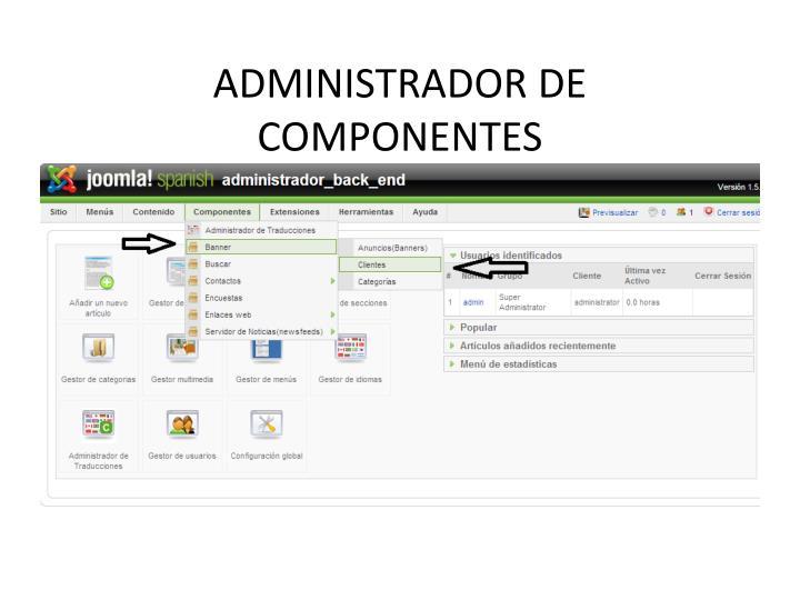 ADMINISTRADOR DE COMPONENTES
