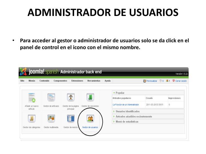 ADMINISTRADOR DE USUARIOS