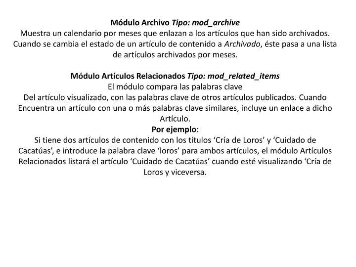 Módulo Archivo