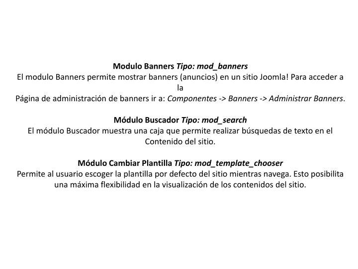 Modulo Banners