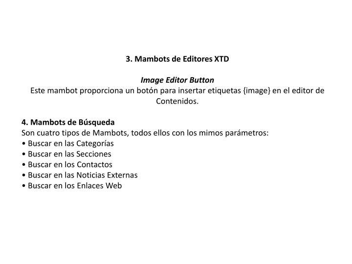 3. Mambots de Editores XTD