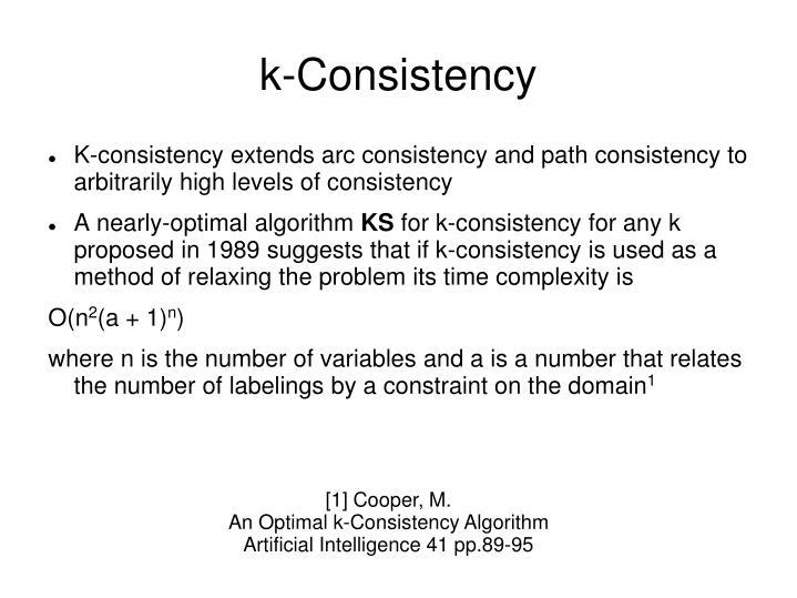 k-Consistency
