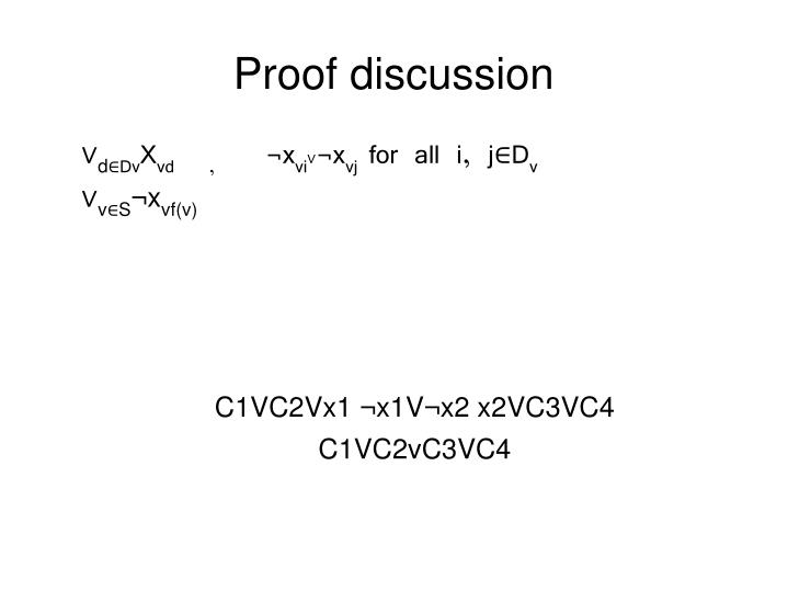 Proof discussion